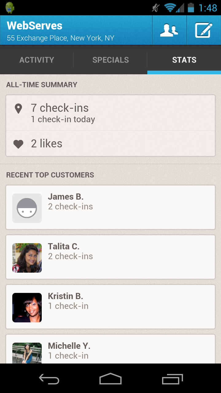 Foursquare for Business Screenshot